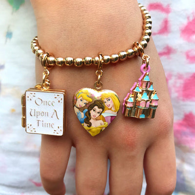 CHARM IT! Disney Charms - Gold Princess Book Charm