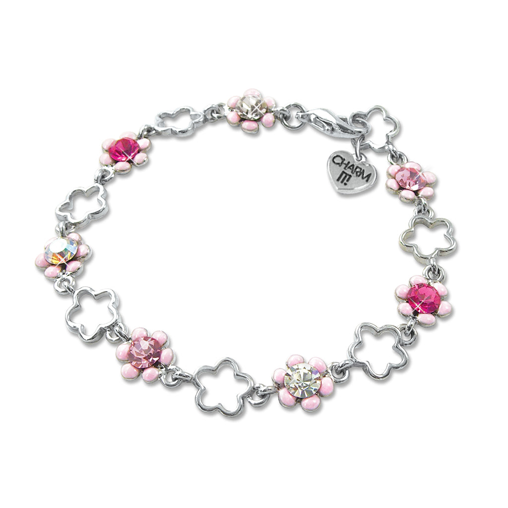 Pink Flower Bracelet - shopcharm-it
