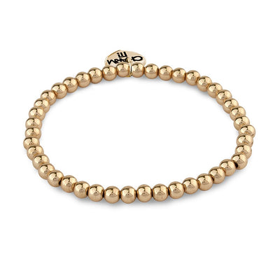 CHARM IT! Gold Bead Stretch Bracelet - Just Add Charms!