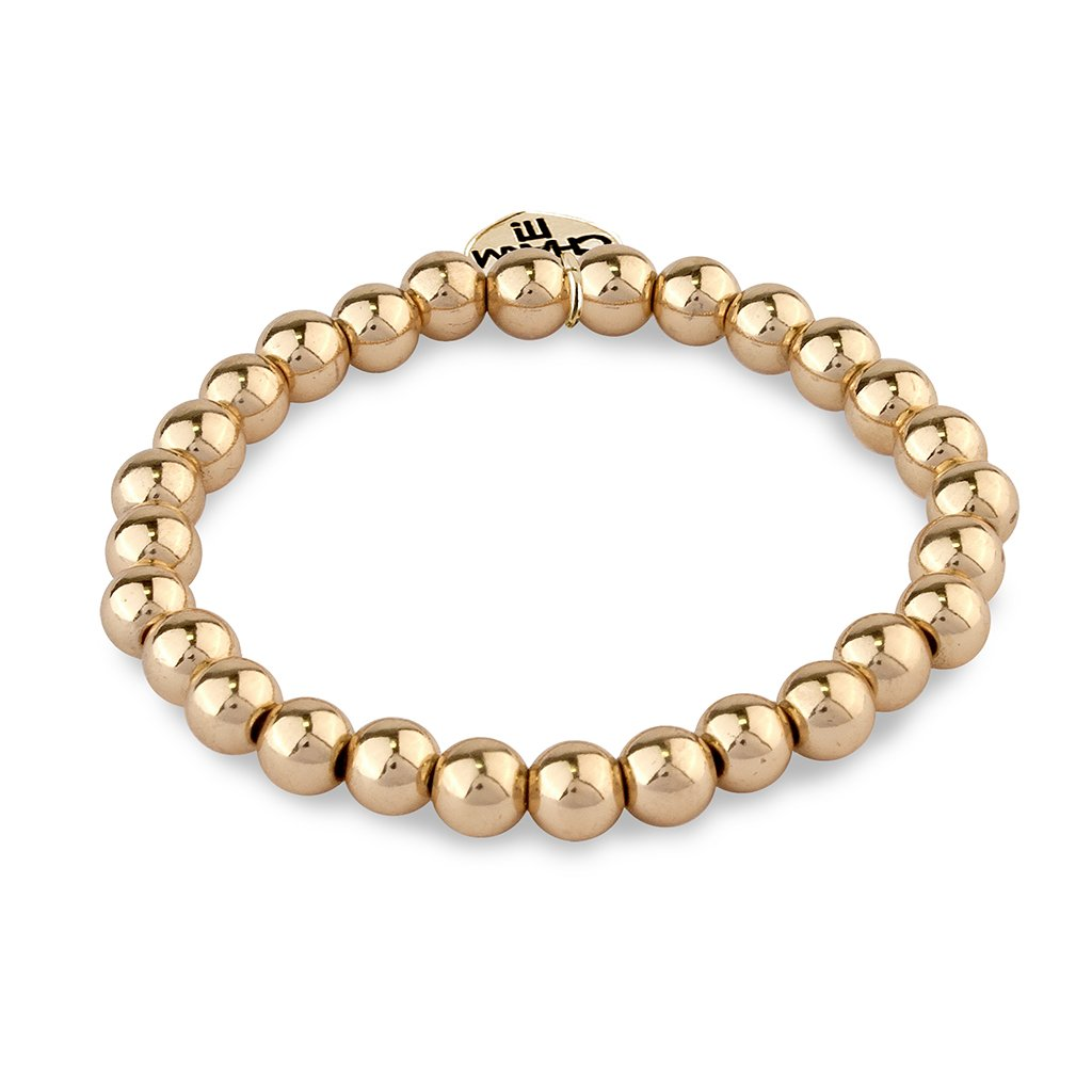 6mm Gold Bead Bracelet - shopcharm-it