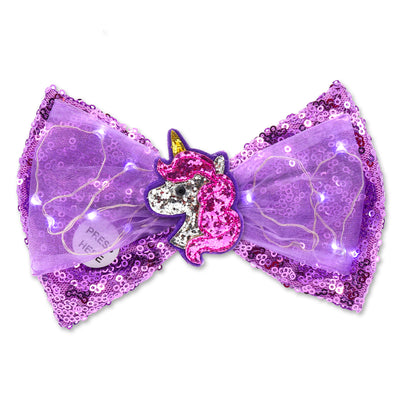 Unicorn LED Sequin Bow