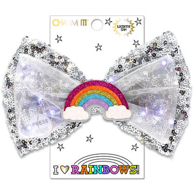 Rainbow LED Sequin Bow