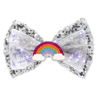 Rainbow LED Sequin Bow - shopcharm-it