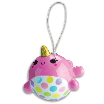 CHARM IT! Pink Narwhal Ornament