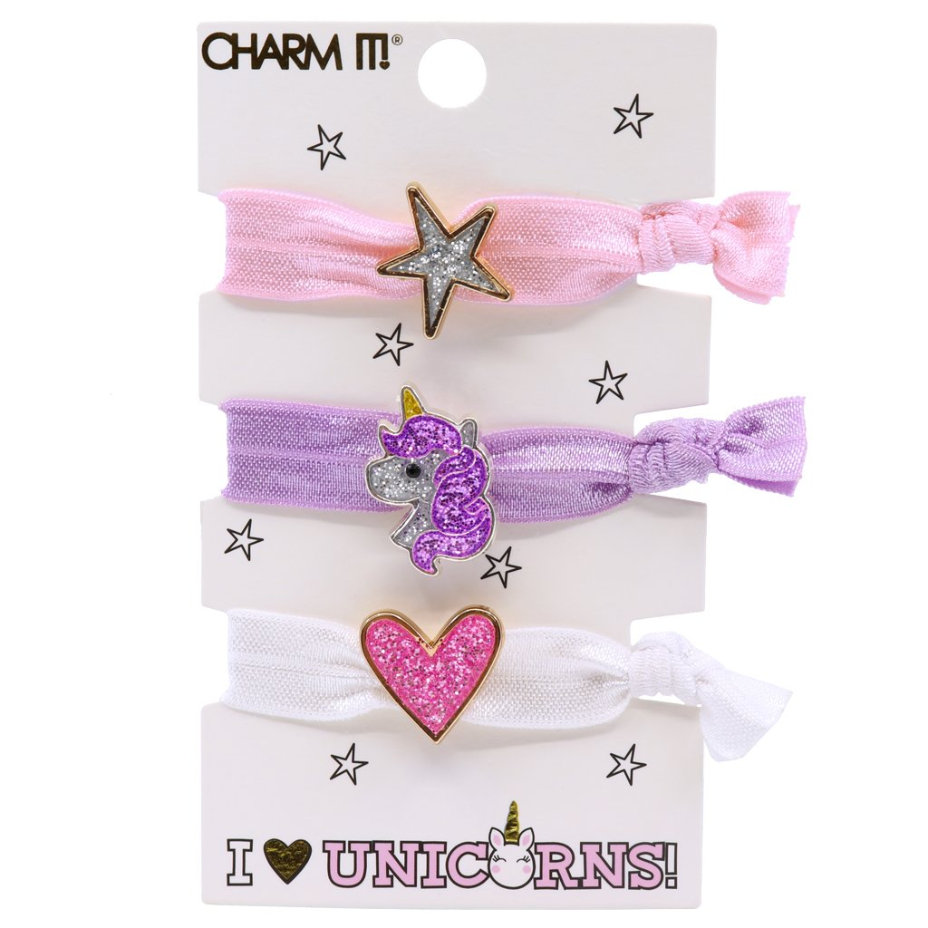 Unicorn Hair Elastic Set
