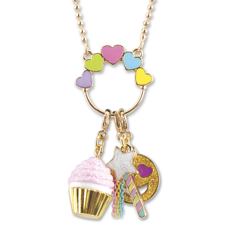 Multi Heart Gold Charm Catcher Necklace - shopcharm-it
