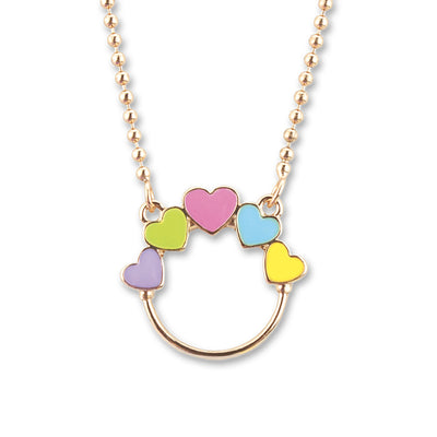 Shop Multi Heart Gold Charm Catcher Necklace