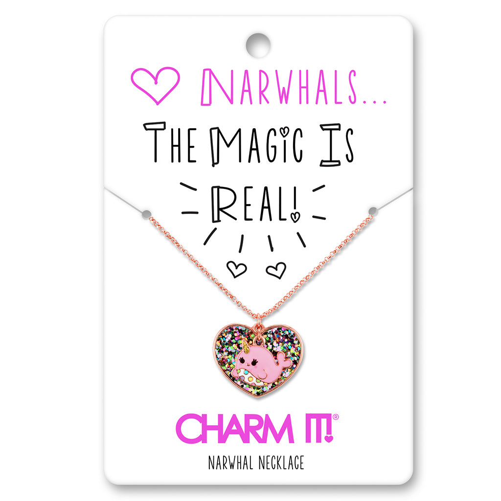 Jewelry Gift Narwhal Charm Charm Jewelry Narwhal Necklace Charm Necklace Unicorn Of The Sea Narwhal Jewelry Baby Narwhal Necklace