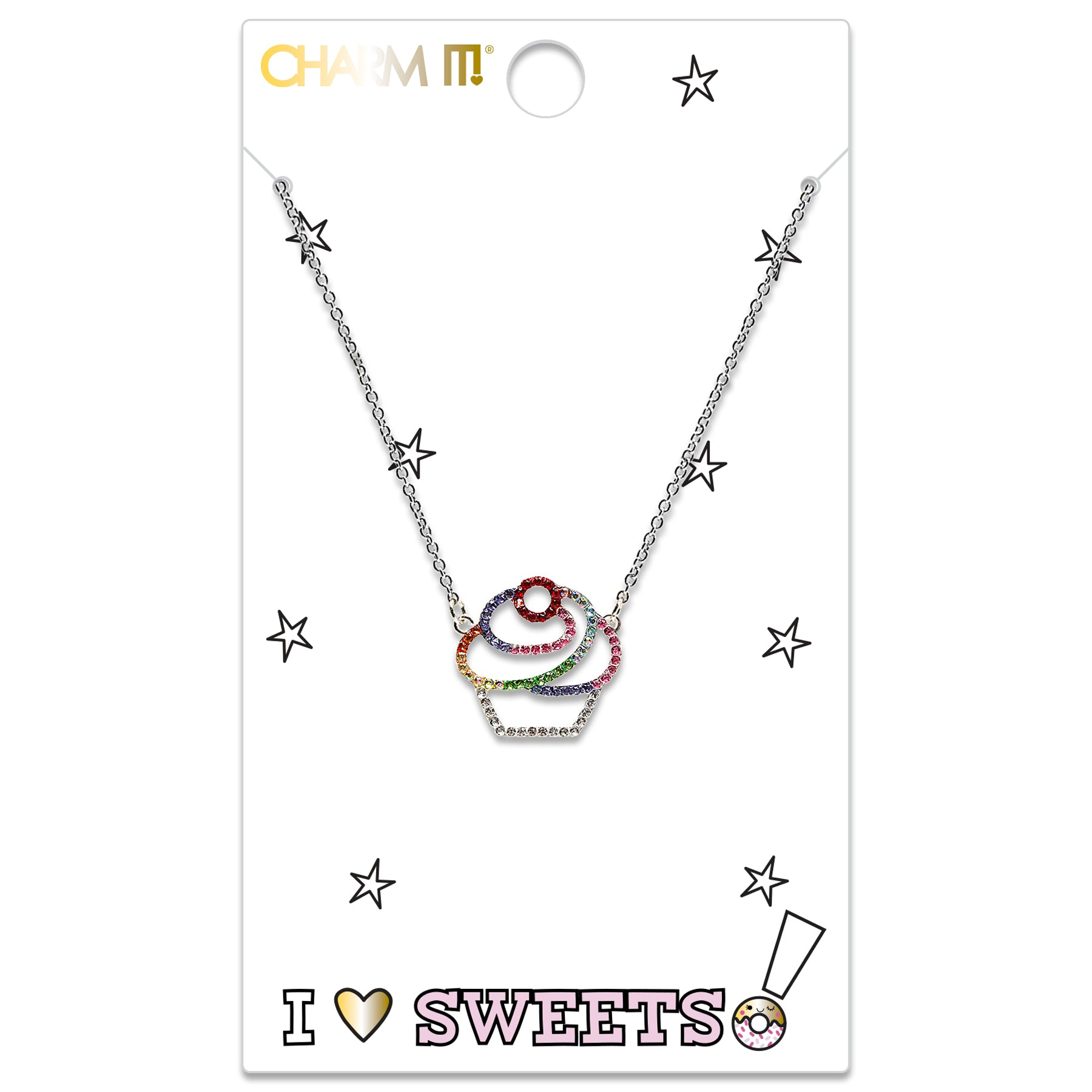 CHARM IT! Rhinestone Cupcake Necklace