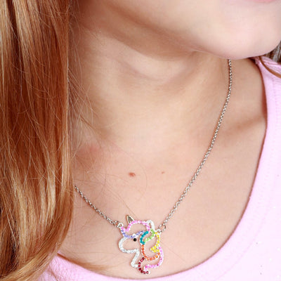 CHARM IT! Rhinestone Unicorn Necklace - shopcharm-it