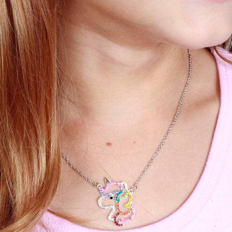 CHARM IT! Rhinestone Unicorn Necklace