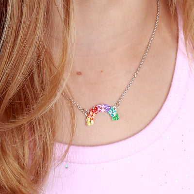 CHARM IT! Rhinestone Rainbow Necklace - shopcharm-it