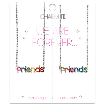 CHARM IT! Rhinestone Friends Necklace Set