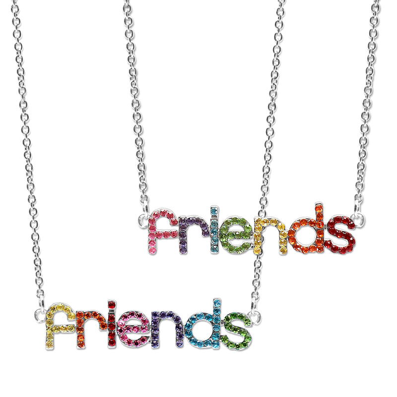 CHARM IT! Rhinestone Friends Necklace Set - shopcharm-it