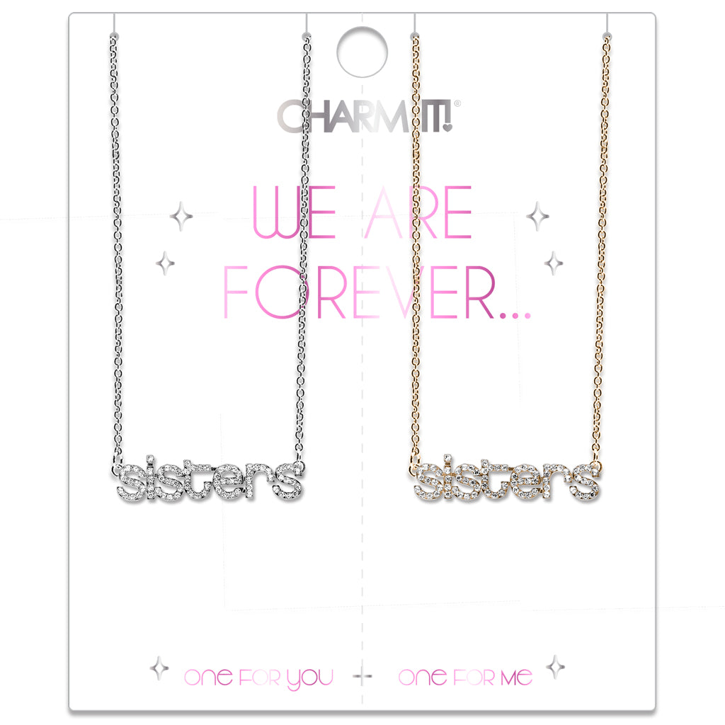 CHARM IT! Rhinestone Sisters Necklace Set