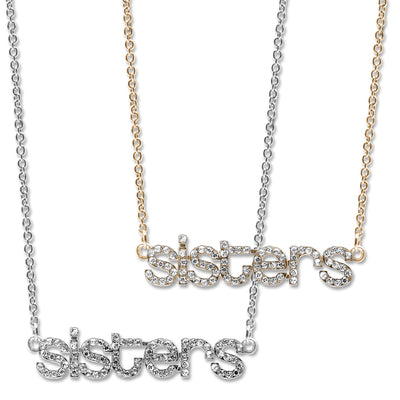 CHARM IT! Rhinestone Sisters Necklace Set - shopcharm-it