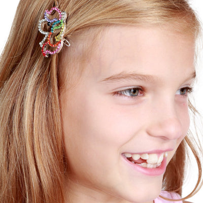 Girls Rhinestone Unicorn Barrette
