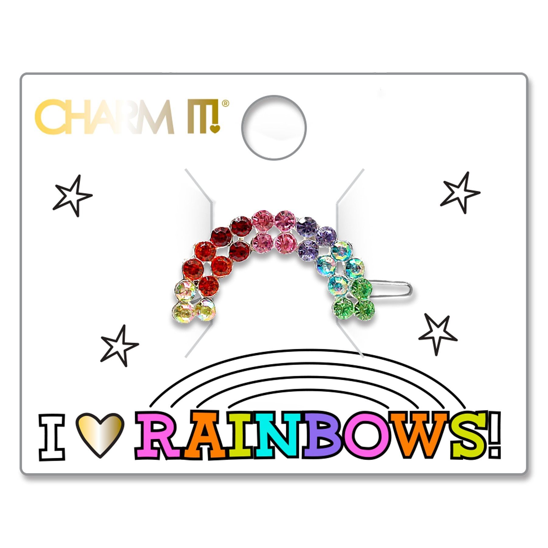 Rhinestone Rainbow Barrette - shopcharm-it