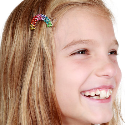 Girls Rhinestone Rainbow Barrette