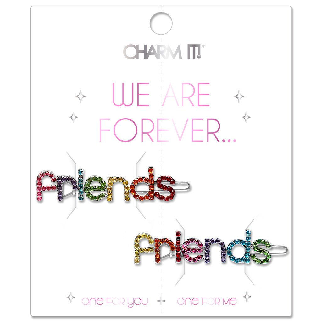 Rhinestone Friends Barrette Set