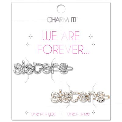 Rhinestone Sisters Barrette Set - shopcharm-it