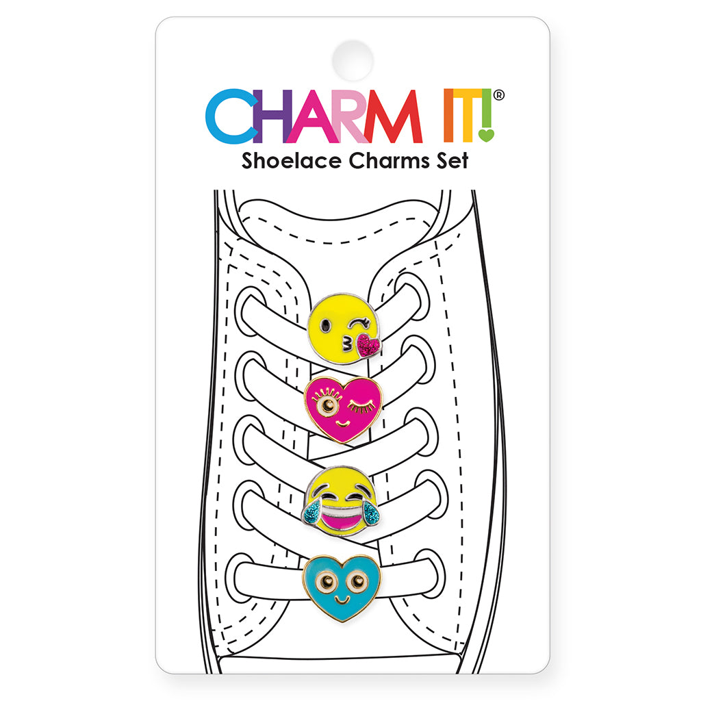 CHARM IT! Emoji Shoelace Charm Party Set