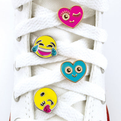 CHARM IT! Emoji Shoelace Charms on a Sneaker