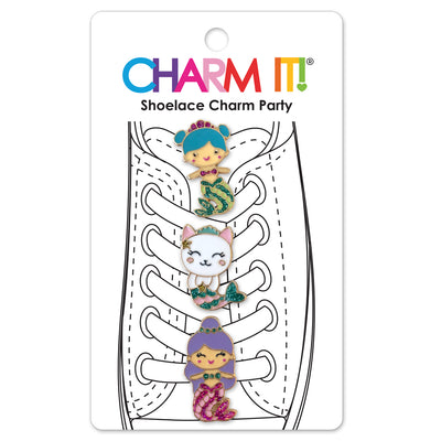CHARM IT! Mermaid Shoelace Charms includes 3 Glitter Mermaid Charms