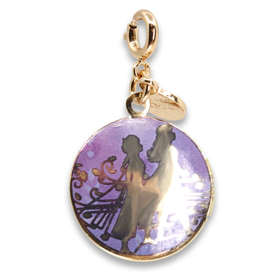 Gold Elsa & Anna Locket Charm - shopcharm-it
