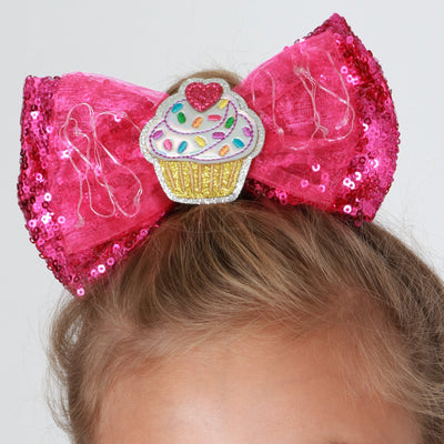 Girls Sweets LED Sequin Bow