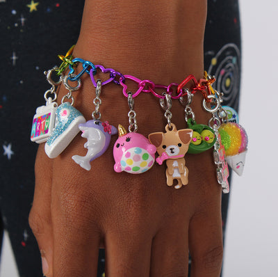 Girls Pink Narwhal Charm