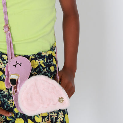 Girls Flamingo Charm Bag