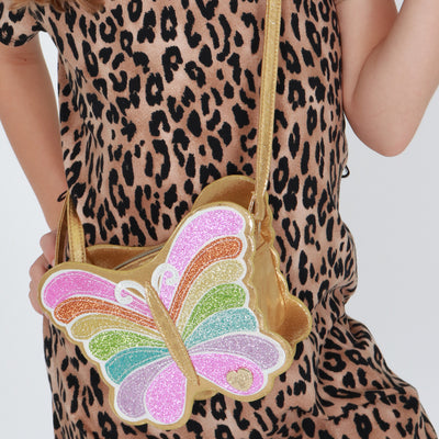 Girls Butterfly Charm Bag