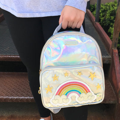 Girls Rainbow Mini Backpack