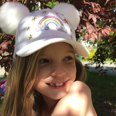 Girls Rainbow Hat
