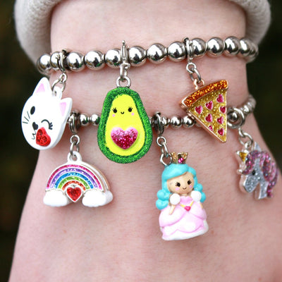 Girls Glitter Rainbow Charm