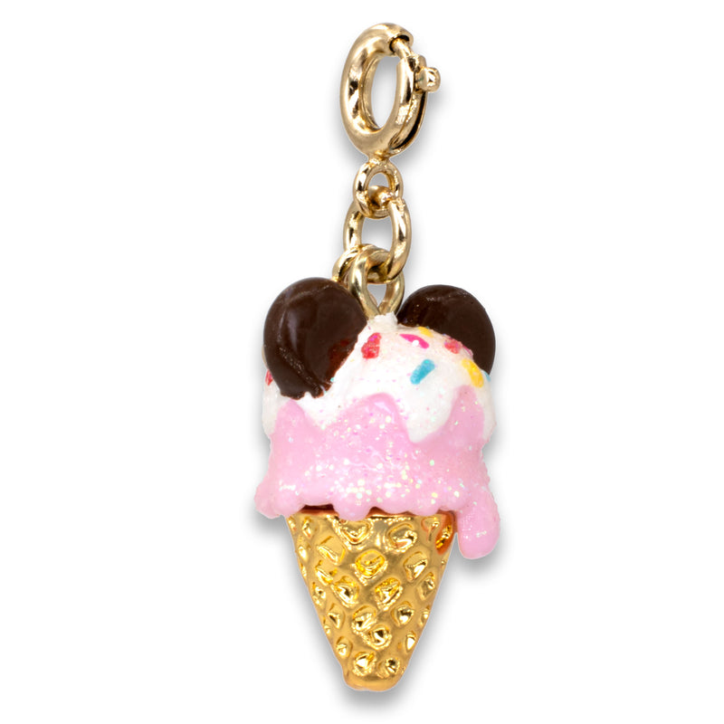 CHARM IT! Disney Charms - Gold Mickey Ice Cream Charm