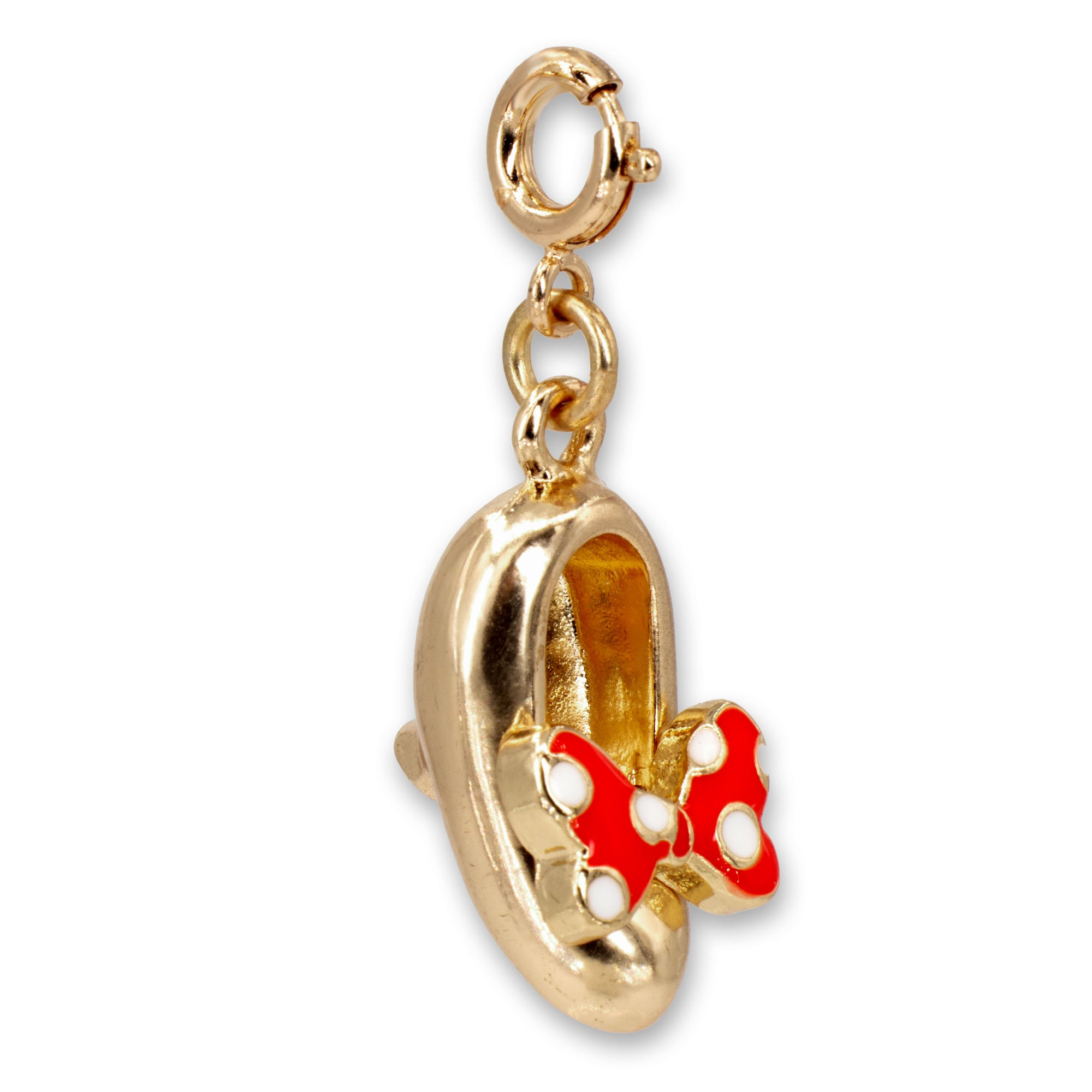 CHARM IT! Disney Charms - Gold Minnie Mouse Shoe Charm