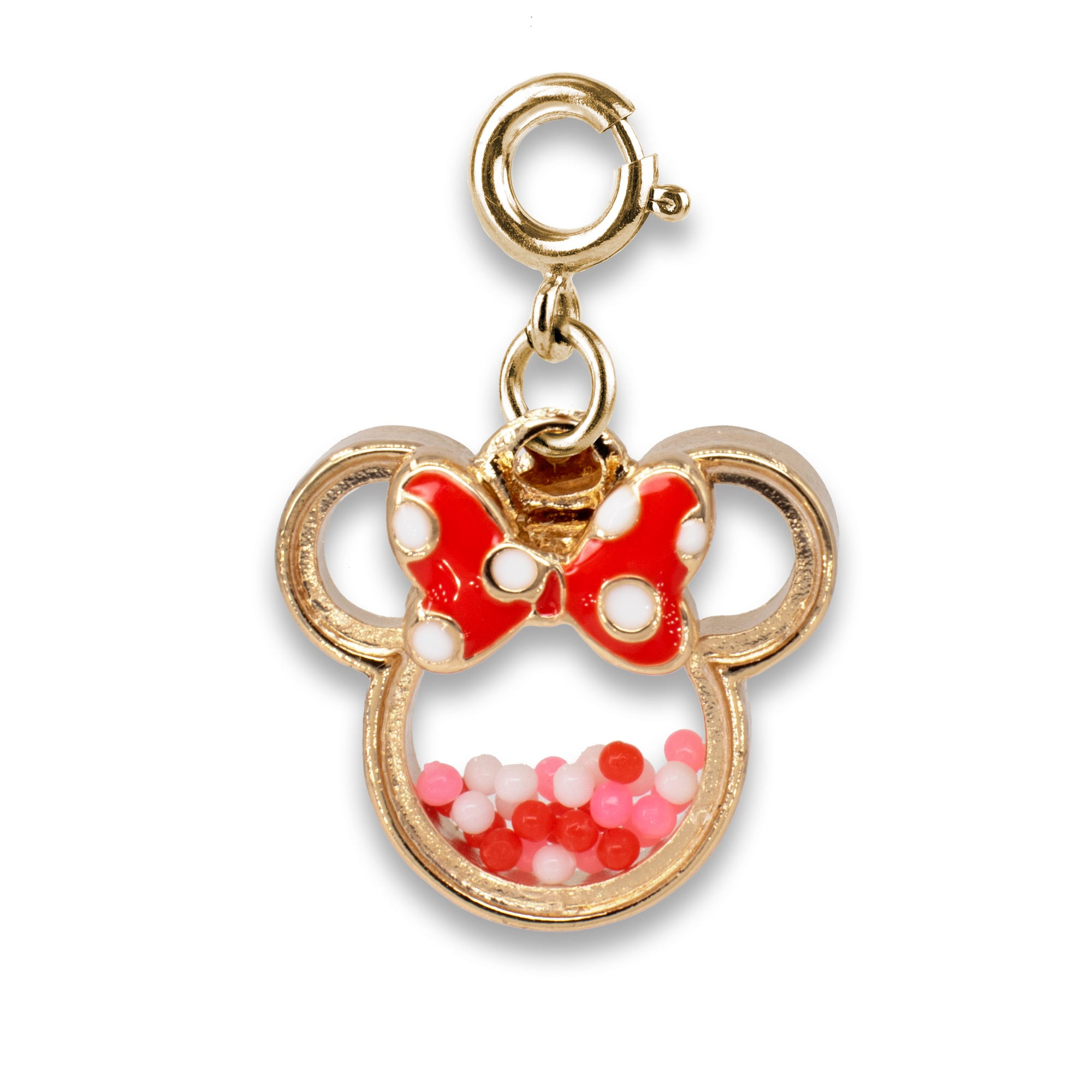 CHARM IT! Disney Charms - Gold Minnie Shaker Charm