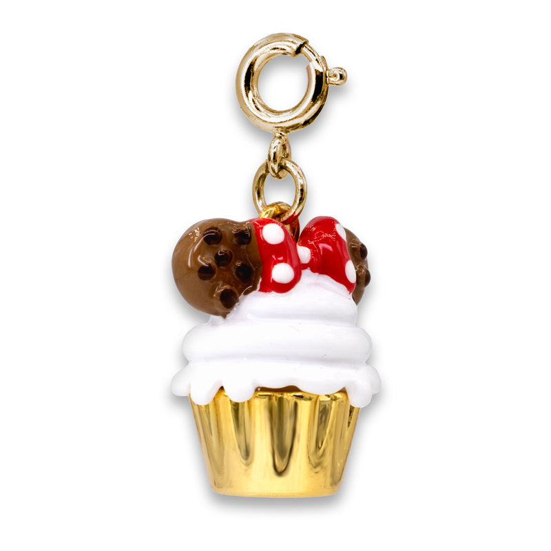 CHARM IT! Disney Charms - Gold Minnie Cupcake Charm