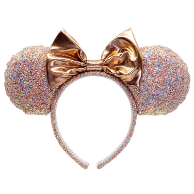 Shop Minnie Rose Gold Glitter Headband