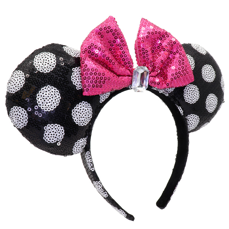 Minnie Polka Dot Sequin Headband
