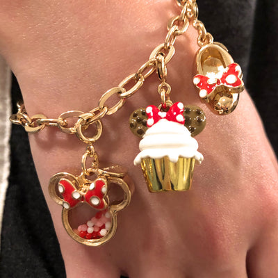 Gold Minnie Shoe Charm