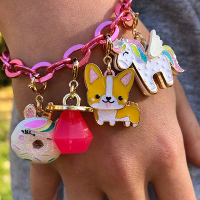 Gold Unicorn Donut Charm