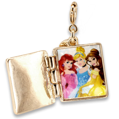Gold Princess Book Charm