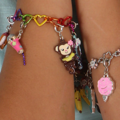 Girls Swivel Monkey Charm