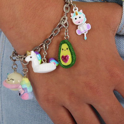 Girls Rainbow Unicorn Float Charm