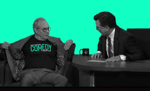Pick up the National Comedy Center logo shirt, as seen on Lewis Black during his appearance on the Late Show with Stephen Colbert.