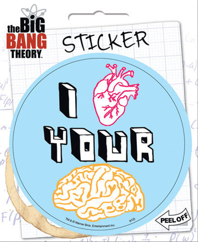 Big Bang Theory: I Heart Your Brain Stickers