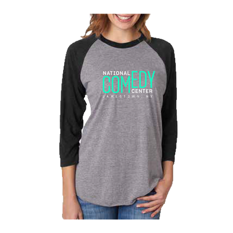 National Comedy Center Logo Baseball Tee - National Comedy Center